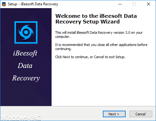 iBeeSoft Data Recovery Wizard Installation