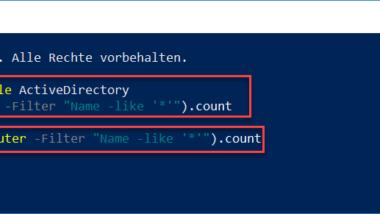 Anzahl der AD (Active Directory) Objekte zählen per PowerShell