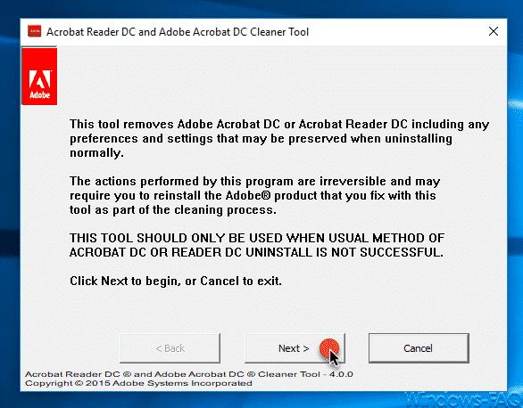 Acrobat Reader Removal Tool