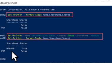 Windows Drucker freigeben per PowerShell Befehl