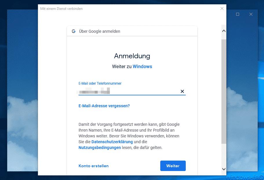 E-Mail des Google Kontos
