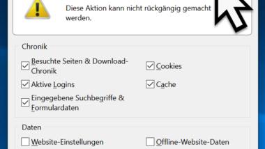 Firefox Browserverlauf löschen (Chronik)