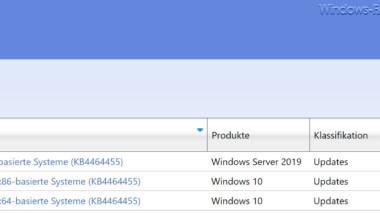 Download Update KB4464455 für Windows 10 Version 1809 Build 17763.107