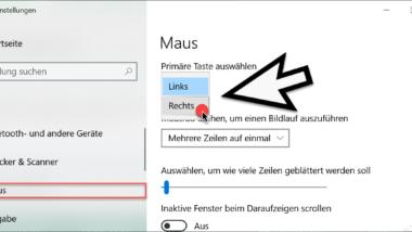 Rechte und linke Maustaste unter Windows 10 tauschen