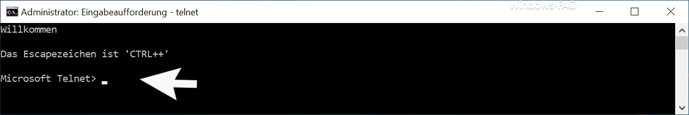 Microsoft Telnet