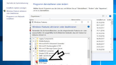 Telnet bei Windows 10 installieren