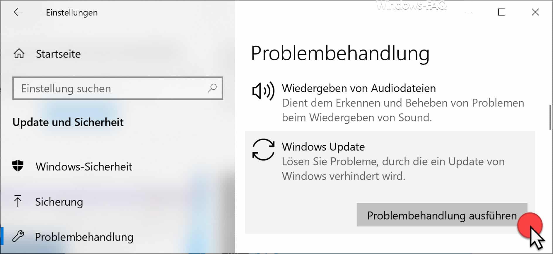 Windows Update Problembehandlung