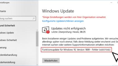 0x800704B3 Fehlercode beim Windows Update