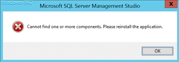 Cannot find one or more components. Please reinstall the application