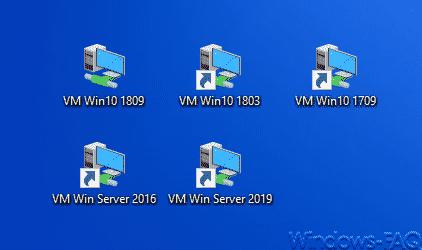 Hyper-V Desktop Verknüpfungen