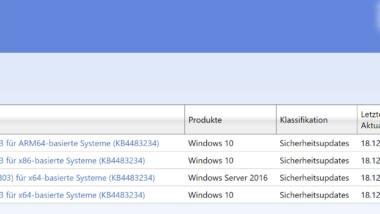 Update KB4483234 für Windows 10 1803 zum Download verfügbar