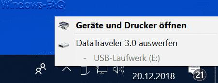 USB Gerät auswerfen