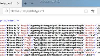 Windows 10 Dateitypen Übersicht, Export und Import der Dateitypen-Verküpfungen