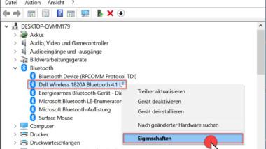 Permanente Bluetooth Verbindungsabbrüche bei Windows 10