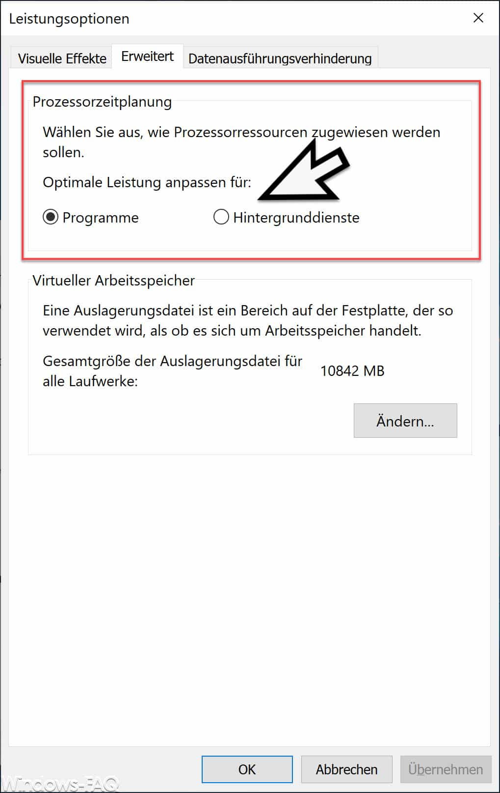Windows Prozessorzeitplanung