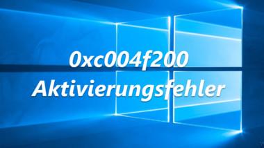 0xc004f200 Aktivierungsfehler bei Windows 7 Clients nach KB4480960 und KB4480970