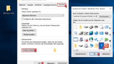Ordner Icon Darstellung ändern bei Windows