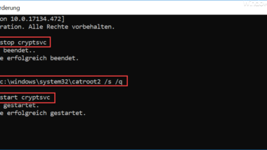 Löschen der Catroot & Catroot2 Ordner bei Windows Update Problemen