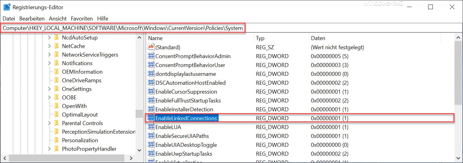 EnableLinkedConnections