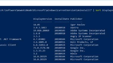 Software Inventarisierung per PowerShell Befehl