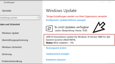 KB4476976 für Windows 10 Version 1809 zum Download verfügbar (Build 17763.292)