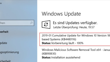 Download Update KB4480116 für Windows 10 Version 1809 Build 17763.253
