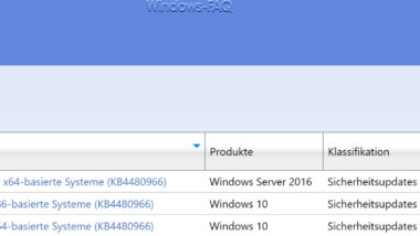 Update KB4480966 für Windows 10 1803 zum Download verfügbar (Build 17134.523)