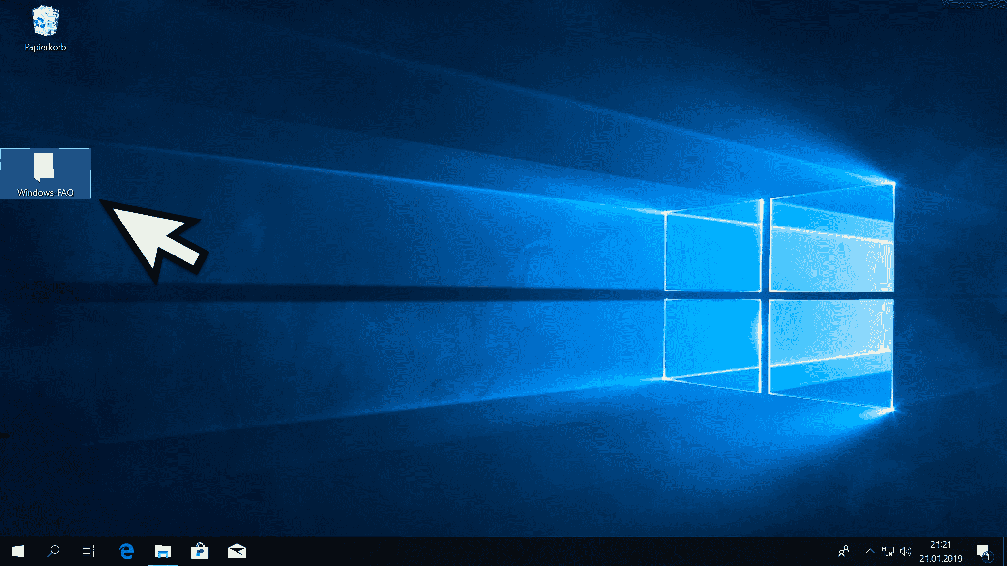 Standard Ordner Symbol auf dem Windows Desktop