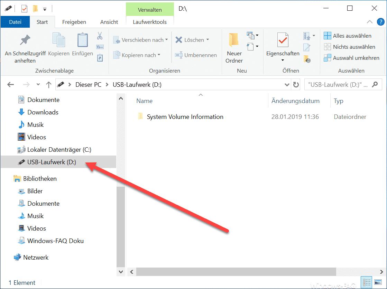 USB Speichermedien nur noch einfach im Explorer vorhanden