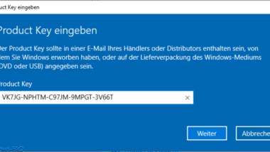 Windows 10 Home upgraden auf Windows 10 Professional