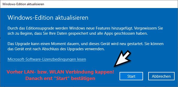 Windows Editionsupgrade