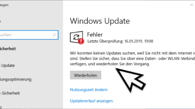 Windows 10 kann nicht nach Updates suchen