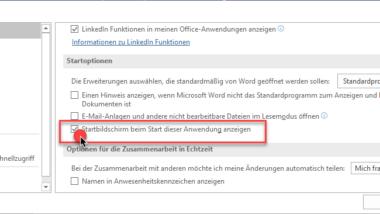 Word ohne Startbildschirm starten und sofort leeres Dokument anzeigen