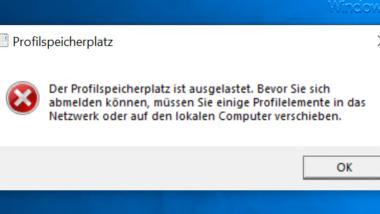 Windows Profilgrößen beschränken