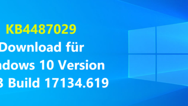 KB4487029 Download für Windows 10 Version 1803 Build 17134.619