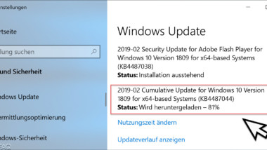 KB4487044 Februar 2019 Update für Windows 10 Version 1809 zum Download verfügbar