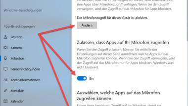 Mikrofonzugriff deaktivieren bei Windows 10