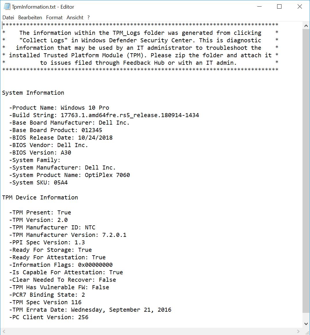 TPM Information Datei