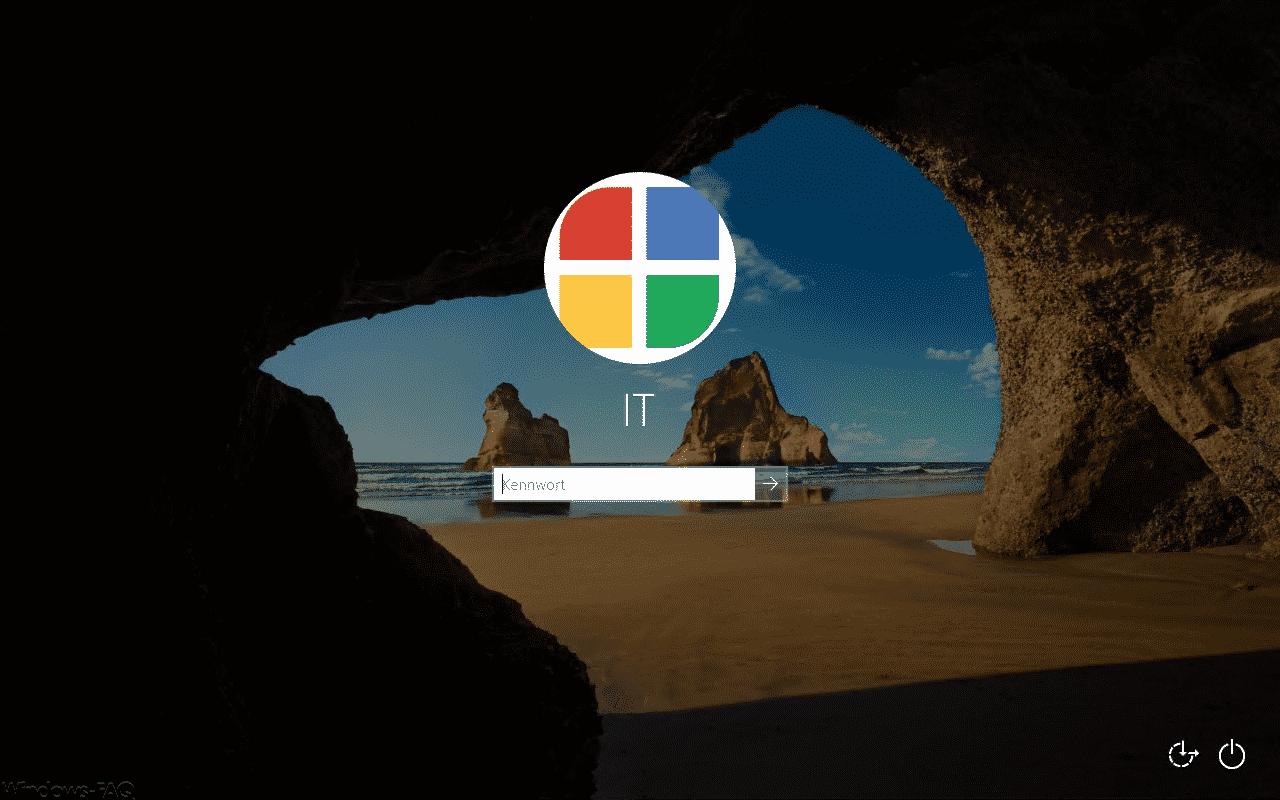 Windows 10 Anmeldung mit eigenem Profilbild