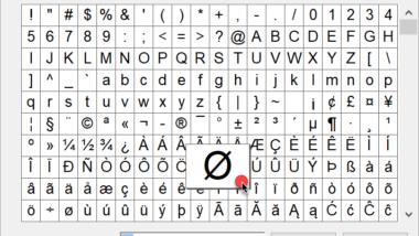 Sonderzeichen mit Zeichentabelle darstellen unter Windows