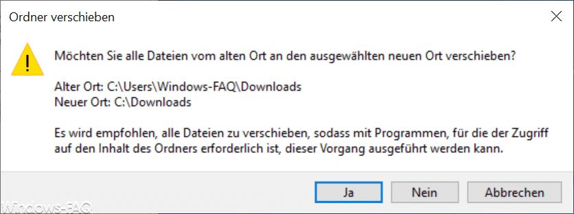 Alle Dateien vom Download Ordner verschieben