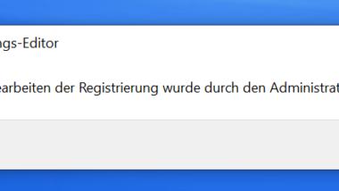 Windows Anwendern den Zugriff auf die Registry verhindern