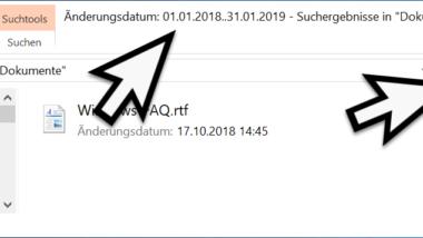 Dateien nach Datum im Explorer finden