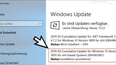 Download Update KB4482887 für Windows 10 Version 1809 Build 17763.348