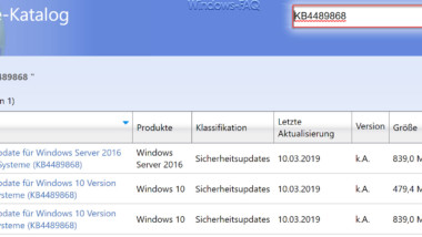 KB4489868 Update für Windows 10 Version 1803 zum Downloaden (Build 17134.648)