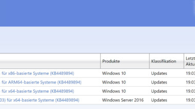 Download KB4489894 für Windows 10 Version 1803 Build 17134.677