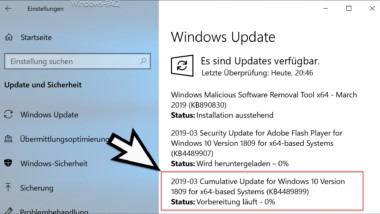 Download Update KB4489899 für Windows 10 Version 1809 17763.379
