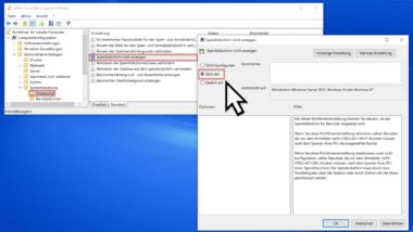 Sperrbildschirm deaktivieren per GPO bei Windows 10