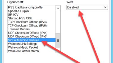 Hyper-V VMs reagieren langsam beim Netzwerkverkehr – VMQ deaktivieren