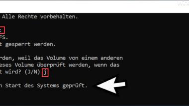 Mit CHKDSK Fehler im Dateisystem finden und beheben
